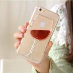 Lovecom  красное вино жидкого стекла зыбучие пески Прозрачный чехол для телефона жесткий задняя крышка для iphone 4 4S 5 5S 5C 6 6 s 7 Plus корпус