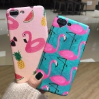 Мода Фламинго сердце камеры окно телефона чехол для iPhone 6 6 S 6 Plus 7 7 Plus милый мультфильм животных Мягкий Страус шелк задняя крышка