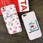 Lovecom мультфильм вкусные фрукты чехол для iPhone 5S 5 SE 6 6 S плюс 7 7 плюс милые сочный персик Жесткий PC телефон случаи задняя крышка Coque