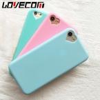 Candy color soft тпу телефон обложка case для iphone 7 for iphone 5 5S se 6 6s 7 плюс мобильный телефон мешки and случаи сердце любовь отверстие