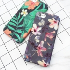 Lovecom тропический рисунок банановых листьев Цветы вишни растений дизайн телефона чехол для iPhone 6 6 S 7 7 плюс жесткий скраб телефон сумки и чехол