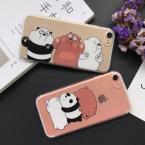 Lovecom мультфильм поглощать Повтор панда животных Прозрачные Мягкие TPU телефон задняя крышка для iPhone 5 5S SE 6 6 s 7 Plus
