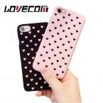 Lovecom милые сердцу Dot телефона чехол для iPhone 5 5S SE 6 6S 6 Plus 7 7 Plus Матовая Жесткий пластиковые милые сердцу узор задняя крышка