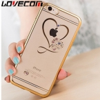 Lovecom телефон ca s e для iPhone 6 6 S 7 plu S fa S Хион Cry S Тал сердце Покрытие Алмаз Чан S родителей Мягкий ТПУ Телефон задняя крышка ca s e s