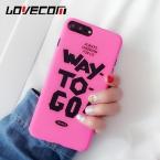 Мода письмо телефон случае Матовая Жесткий carcasas Coque принципиально для iPhone 5 5S SE 6 6 s 6 Plus 7 7 Plus пластиковые Капа Para крышка