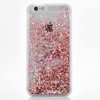 Горячий Блеск Динамически Жидкостное Алмаз Зыбучие Пески Чехол Для iPhone 5 5S SE 6 6 S 6 Плюс 6 SPlus Прозрачный Жесткий Телефон случае