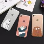 Милые Носки с рисунком медведя из мультика panda чехол для телефона для Iphone 5 для Iphon 5S SE 6 6 S плюс 7 7 плюс мягкий ТПУ защитные чехлы Coque YC2025