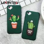 Прекрасный кактус сердце камеры окна Мягкие TPU чехол для телефона iPhone 6 6 S плюс 7 7 Plus шелк телефон Задняя крышка Coque YC2110