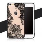 Hot Sexy Кружева Цветочные Пейсли Мандалы Цветы Прозрачный Мягкий Кадров ТПУ Телефон задней стороны Обложки Для iPhone 5 5S SE 6 6 S 7 Плюс новый