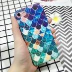 Lovecom синий Русалка рыбьей чешуи матовый полный защиты Жесткий ПК телефон чехлы для iphone 5 5S SE 6 6 S плюс 7 7 Plus телефон задняя крышка