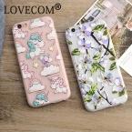 Роскошные модные цветочные окрашенные 3D рельеф для Apple iPhone 6/6 S 6 Plus 7 7 плюс красота цветок мультфильм лошадь Дела сотовый телефон Обложка