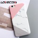 Lovecom телефона чехол для iPhone 5 5S SE 6 6 S 7 Plus модные розовые с мраморным принтом Матовый Жесткий PC телефон задняя крышка случаях Новинка