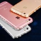 NEW CZ Diamond Crystal Рамка Прозрачный Очистить Память Телефона Задняя Крышка Мягкой ТПУ Телефон Случае Для iPhone 7 Для iPhone7 7 Плюс