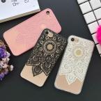 Красивые Дурман Цветочный Телефон Случаях Для Apple iphone 6 6 S 7 7 Плюс Мягкий Шелк Крышка Классический Кружева Мандала Цветок Fundas YC2117
