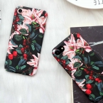 Lovecom Ретро цветок вишни Цветочные Вишневый пластик Жесткий Телефон Чехлы для iPhone 7 6 6 S плюс 5 5S SE задняя крышка случаях Лучшие подарки