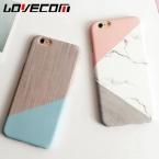 Lovecom Геометрическая сращивания Мраморный Узор Жесткий PC мраморный телефон чехлы для iPhone 6 6 S 7 Plus 5 5S SE задняя Крышка