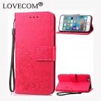 Lovecom кожаная визитница магнитных флип Coque Клевер Бумажник крышки телефона чехол для iPhone 4S 5 5C 5S SE 6 6 S плюс 7 7 Plus