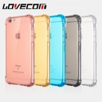 Lovecom Роскошные прозрачный силиконовый антидетонационных задняя крышка для iphone 5S 6 6 S 7 плюс  случаи мобильного телефона протектор