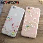 Lovecom чехол для телефона iPhone 6 6 S 7 Plus Новинка весны цветет сорока животных мультфильм Матовый Мягкий ТПУ телефон назад Чехлы