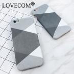 Lovecom Геометрия сращивания ромб скучный польский Жесткий ПК телефон случаи задняя крышка для iPhone 6 6 s 5 5S se 7 Plus Капа Fundas Cool Cover