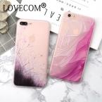Lovecom новые стильные дикие цветы розовый шелк силиконовый чехол для телефона для Apple iPhone 6/6 s 6 плюс 6 6splus 7 7 Plus задняя крышка Coque