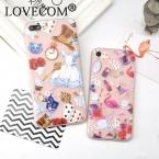 Милые Животные Прозрачный Мягкий Силиконовый Матовый Чехлы для IPhone 6 6 S 6 SPlus 7 7 Плюс Фламинго Юбка Кролик Краски Телефон Задняя Крышка