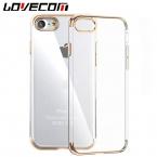 Роскошные ультра тонкий прозрачный кристалл резиновый гальваническим ТПУ мягкий чехол для мобильного телефона iPhone 5 S SE 6 6 S 7 Plus задняя крышка Coque