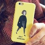 Художественный девушка ультра-тонкий матовый жесткий пластик телефон оболочки для яблок iPhone 5 5S SE 6 6 S плюс Защитный чехол Coque YC1972