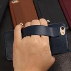 Роскошный кожаный флип чехол для iPhone 5 5S 6 6 S 6 плюс 6 S Plus телефон задняя крышка с держателем Капа Fundas ракушками Coque