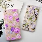 Модные цветочный рельеф груша цветок телефон чехол для iPhone 6 S 6 плюс 7 7 Plus цветок матовый Мягкие TPU Назад крышка Капа Coque Fundas