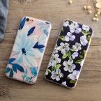 LOVECOM Роскошные Цветочные Окрашенные 3D Рельеф Для Apple iPhone 6 6 S 7 Плюс Красота Дело Цветы Мягкий ТПУ Скраб Телефон Случаях Обложка