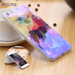 Современный синий луч света ясно мобильного телефона Чехол для iPhone 6 6S 6 Plus 6S Plus 5.5 смешной шаблон прозрачный Чехол для iPhone 6 6s