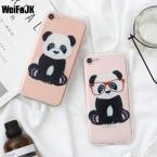 Weifajk панда цветок тпу мягкий силиконовый телефон case для apple iphone 5 5S чехлы для iphone 6 6s plus case для iphone 7 plus крышка