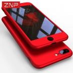 ZNP 360 градусов полное покрытие красный чехол для iPhone 6 6S 5 5S SE с закаленным стеклом чехол для iPhone 7 7 плюс 6 телефона Капа Coque