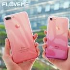 Floveme градиент чехол для телефона iPhone 7 6 6 S плюс 5 5S SE Роскошные кремния Мягкий ТПУ тонкий назад Чехол для iPhone 5, 6 S 7 Plus чехлы