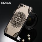 Сексуальная Кружева Телефон Чехол Для iPhone 7 7 Plus 6 6 s Плюс 5S SE Цветочные Пейсли Цветок Мандалы Хны Прозрачный Футляр PC Капа Задняя Крышка