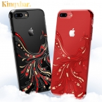 Роскошный чехол для iphone 7 case прозрачный жесткий ультра тонкий горный хрусталь случаи телефона для apple iphone 7 plus аксессуары блеск