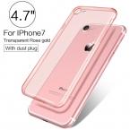 Pzoz Элитный бренд ТПУ кремния тонкий Clear 360 прозрачный силиконовый чехол для Apple iPhone 7 Plus 7 Plus iPhone7 я телефон ipone