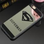 Роскошные Супермен Зеркальная Поверхность ТПУ Чехол Для iPhone 7 Плюс 5S SE хром Задняя Крышка Для iPhone 6 s 6 Плюс 7 Плюс Случаях Coque Fundas