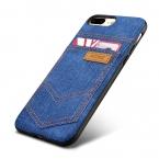 Мода ковбой Жан кожа и силиконовый чехол для Apple iPhone 7/7 Plus телефон случаях аксессуары с Внешний держателя карты