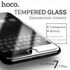 Оригинал Hoco для iPhone 7 and 7 PLUS Прозрачный и Синий Blu-Ray Закаленное Защитное Стекло Пленка Экрана Протектор Прочный iPhone7    Защита для Экрана на Айфон 7 Плюс Скрин Протектор для Айфона 7 Защитное стекло