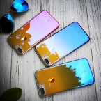 FLOVEME для айфона 6 6S плюс Чехол Ультра тонкая  градиент синий-луч света чехол для айфона  7 7 плюс четкие аксессуары Крышка Капа