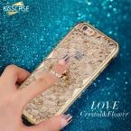 Для iPhone 6 6S случае kisscase Роскошный чехол для iPhone 6 plus 6S плюс 6 6S 3D Diamond Flower мобильного телефона кольцо держатель стоять Обложка мода блестящий дело для девушка оригинальный дизайн шик популярный