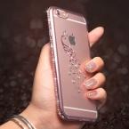 Tomkas Горный Хрусталь Силиконовый Чехол Для iPhone 6 6 S/6 S Плюс блеск Милый Роскошные 3D Алмазная Обложка Золото Розовый Для iPhone Coque Fundas