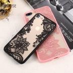 Kisscase телефона Чехлы для iPhone 6 6S плюс 7 7 Plus 5 5S SE Роскошные кружевные цветы ТПУ чехол для iPhone 7 7 плюс 6 6S плюс 5 5S