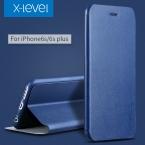 X-Уровень ПУ Кожаный Чехол Для iPhone 6 s Бизнес Стиль Флип телефон Чехол для iPhone 6 6 s плюс Роскошный Стенд Случае крышка