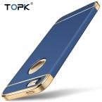 Для iphone 5 5S, topk Роскошные противоударный гальванизирует 3 в 1 ультра-тонкий жесткий матовый пластиковый чехол для телефона iphone 5S 5 se