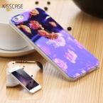 KISSCASE Синий Лазерный Свет Чехол Для iPhone 5 5S SE 6 6 S плюс Чехол Красочный Цветок Животных Шаблон Обложка Для iPhone 5S SE 6 6 SPlus