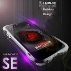 Для iPhone 5s se Luphie тонкий Металлический телефон Бампер Case для iPhone 5 SE Алюминиевый Бампер Кадров с Кожаной Задней крышка
