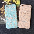 Высочайшее Качество Милый Любящее Сердце матовый корпус для IPhone 5 5S 6 6 S 6 плюс 6 s Плюс Coque Защитная Крышка Телефон все в любовь